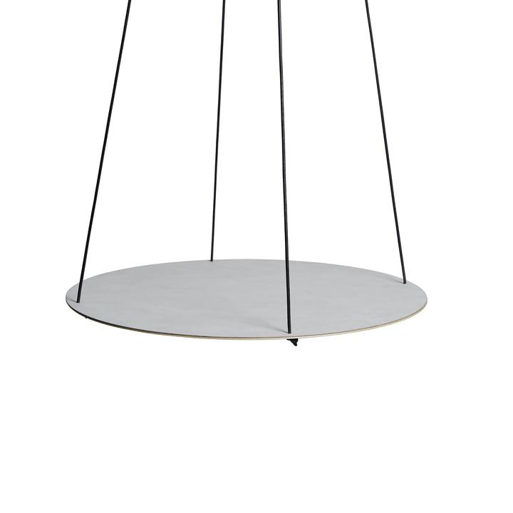 Pendulum Circle Ø 115 cm von LindDNA in Nupo Metallic / Stahl Metallic