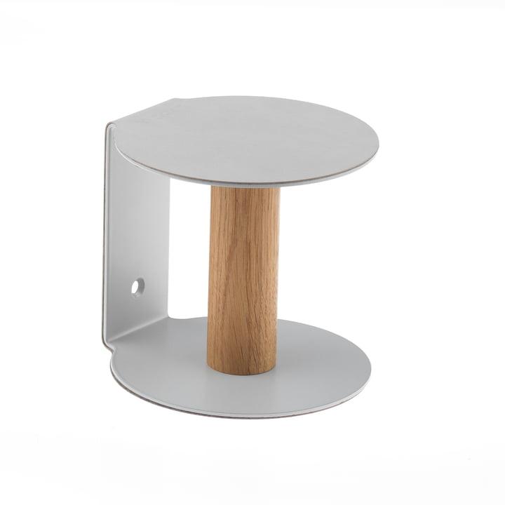 Toilettenpapierhalter von LindDNA in Nupo Metallic / Stahl Metallic