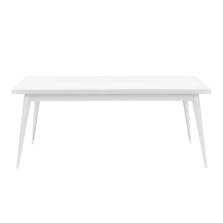 55 Tisch 190 x 80 cm von Tolix in Weiß matt