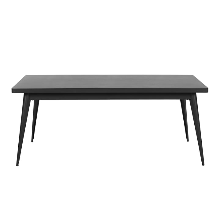 55 Tisch 190 x 80 cm von Tolix in Schwarz matt