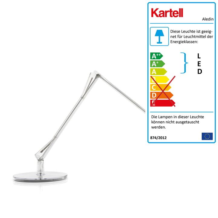 Kartell - Aledin Schreibtischleuchte Dec LED, transparent