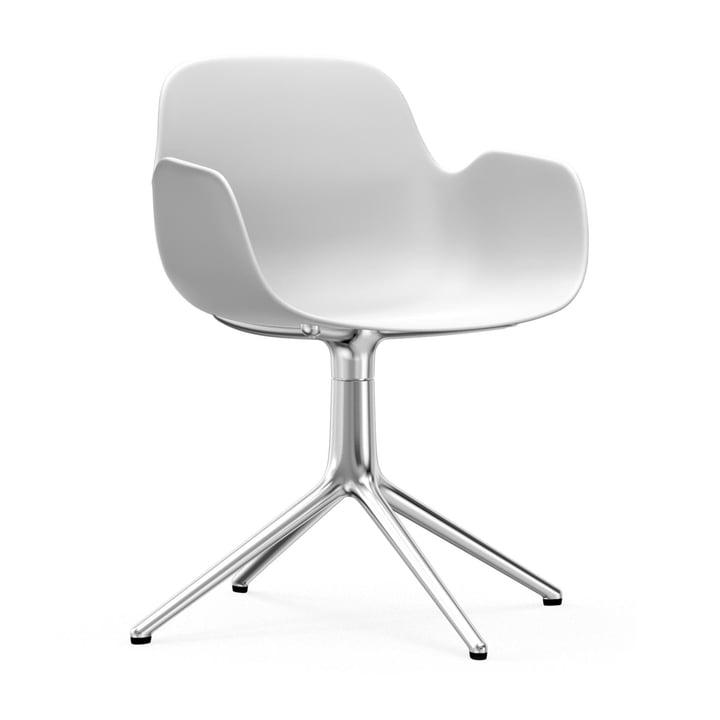 Form Drehsessel von Normann Copenhagen in Aluminium / Weiß