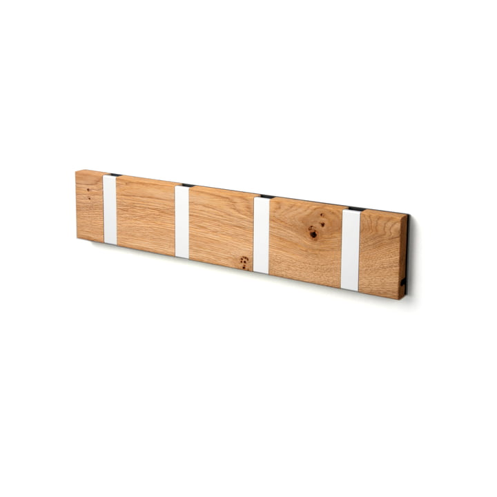 Die LoCa - Knax Rustique 4er Garderobenleiste in Eiche geölt / grau