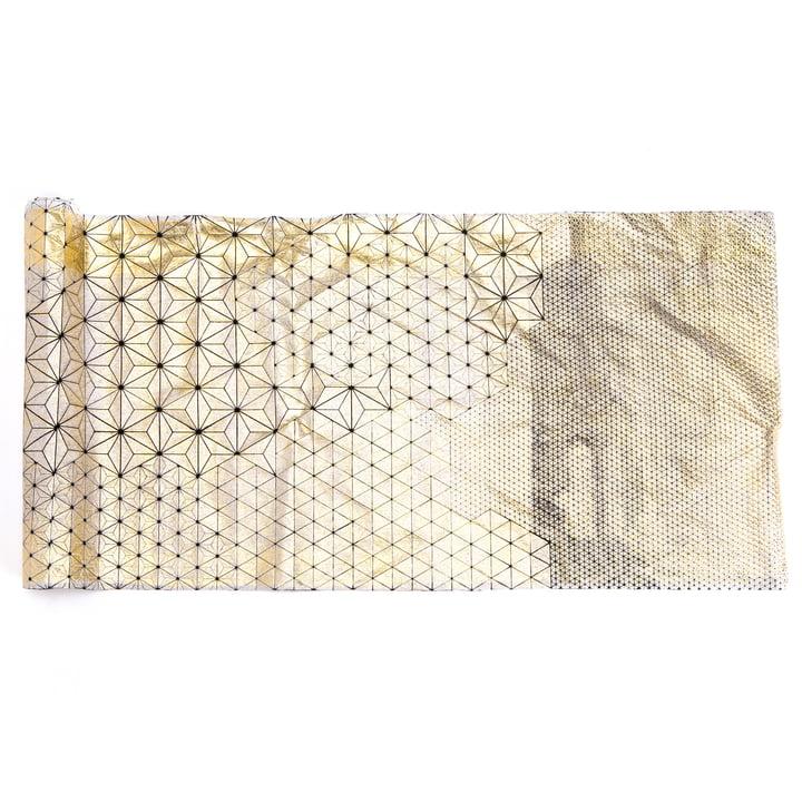 Mika Barr - Tamara Tischläufer, 220 x 50 cm, gold / schwarz