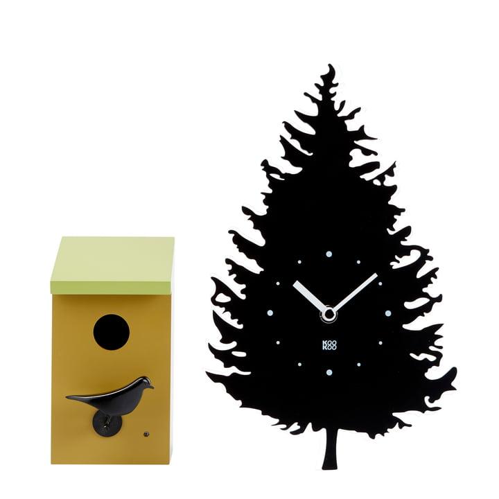 Das KooKoo - Vogelhaus Wanduhr mit RC Funkquarzwerk