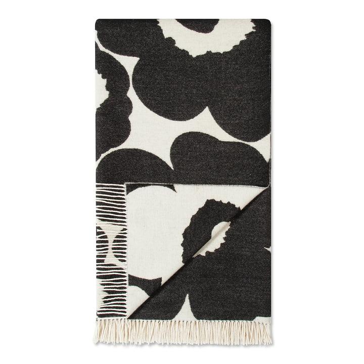 Unikko Wolldecke 130 x 192 cm von Marimekko in Schwarz / Weiß