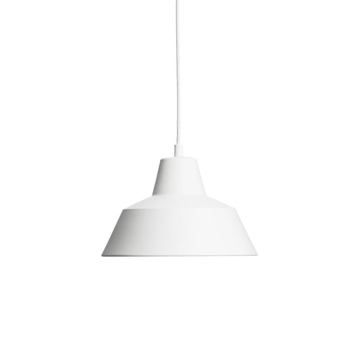 Workshop Lamp W2 von Made by Hand in Mattweiß / Weiß