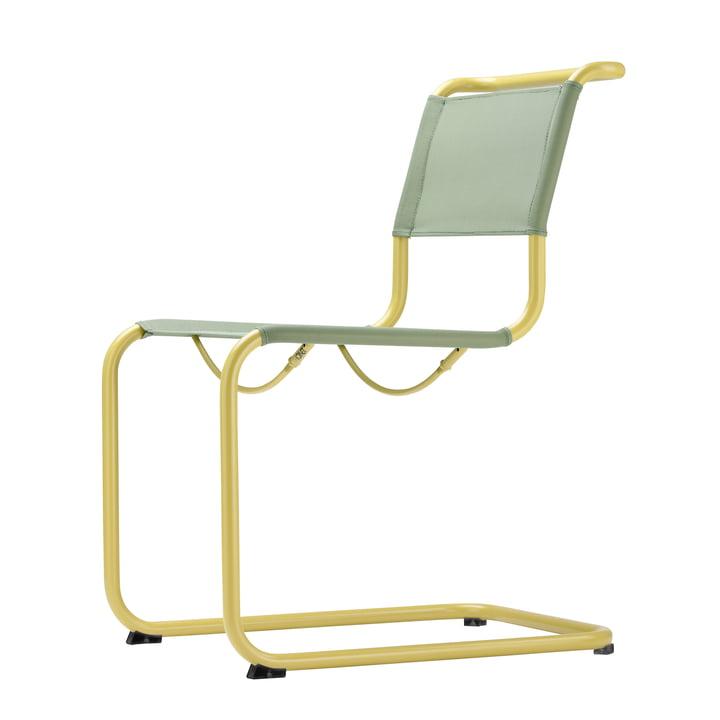 S 33 N All Seasons Stuhl von Thonet in Senfgelb / Moos