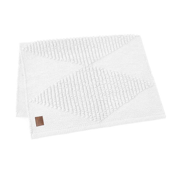 Die Juna - Diamond Badematte 100 x 60 cm in weiß