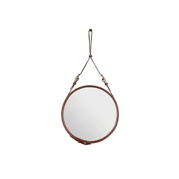 Adnet Spiegel Ø 45 cm von Gubi in Braun