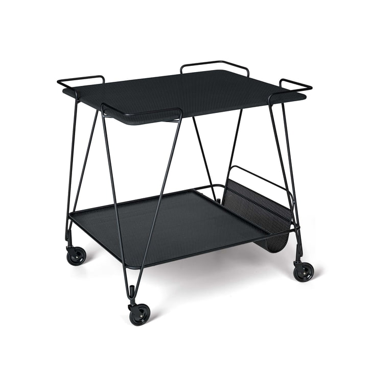 Matégot Trolley von Gubi in Midnight Black