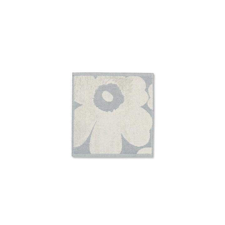 ikko Solid Mini-Handtuch 30 x 30 cm von Marimekko in Cremeweiß / Blau