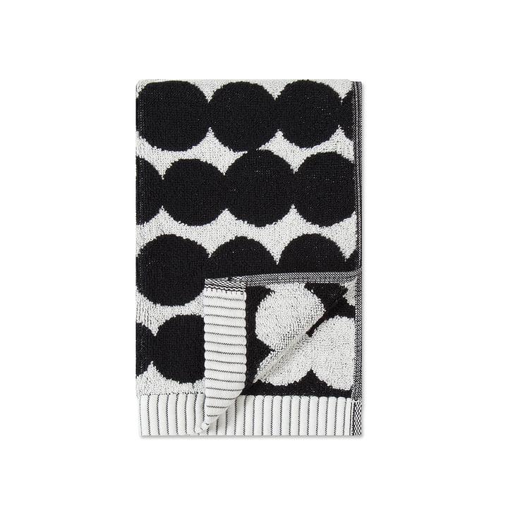 Räsymatto Gästehandtuch 30 x 50 cm von Marimekko in weiß / schwarz