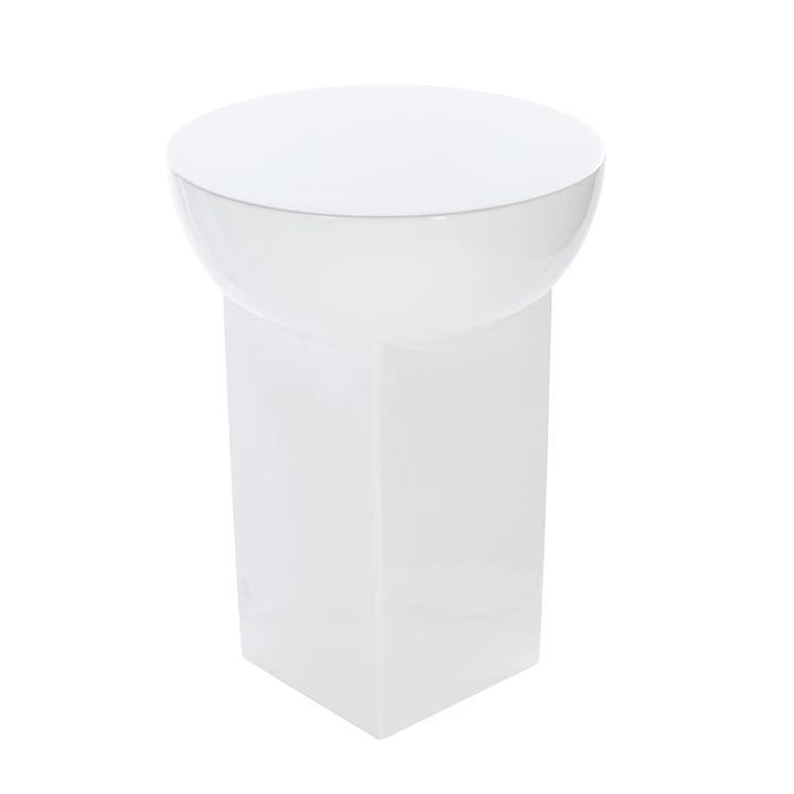 Mila Tisch high H 48 x Ø 36 cm von Pulpo in Weiß