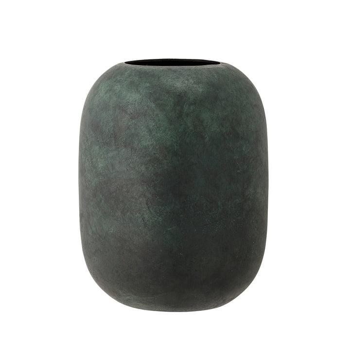 Die Bloomingville - Metall-Vase, H 18 cm in grün
