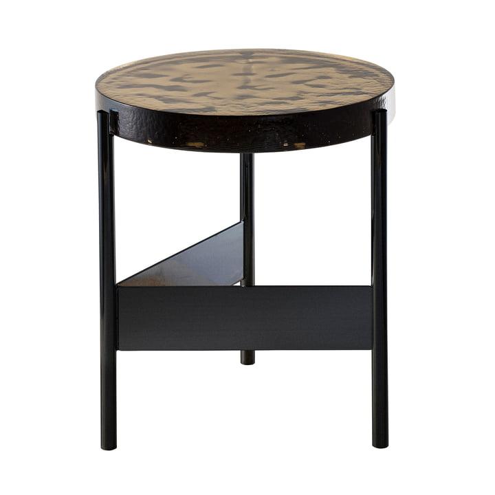 Der Pulpo - Alwa Two Tisch, H 44 x Ø 38 cm in smoky grey / schwarz