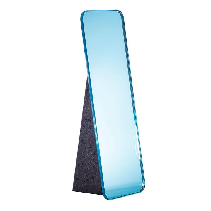 Olivia Tischspiegel H 38 cm von Pulpo in Hellblau / Standfuß Schwarz