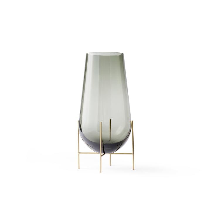Échasse Vase S von Menu in Smoke / Messing