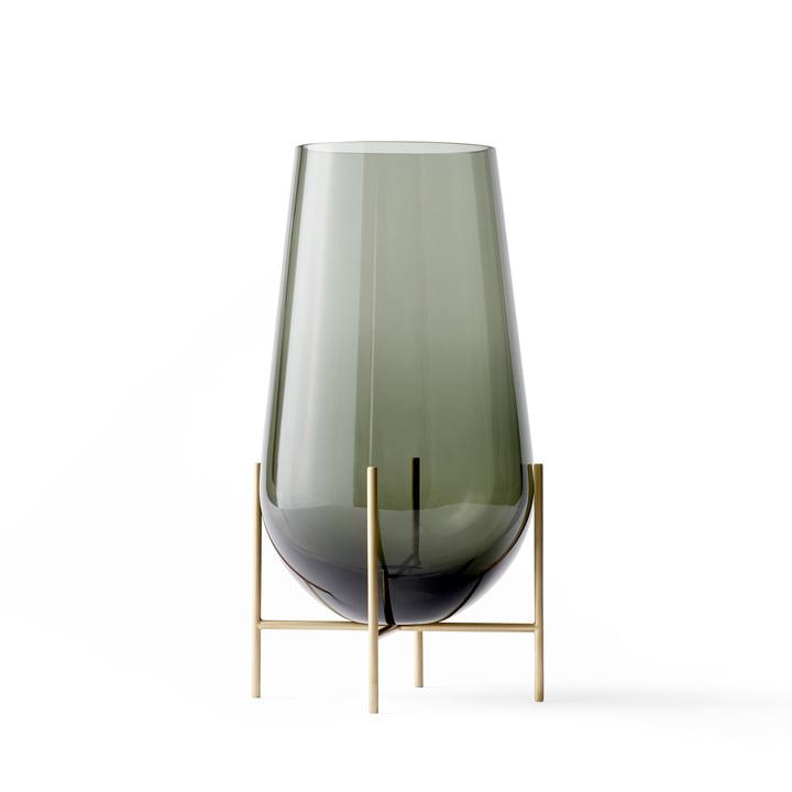 Échasse Vase M von Menu in Smoke / Messing