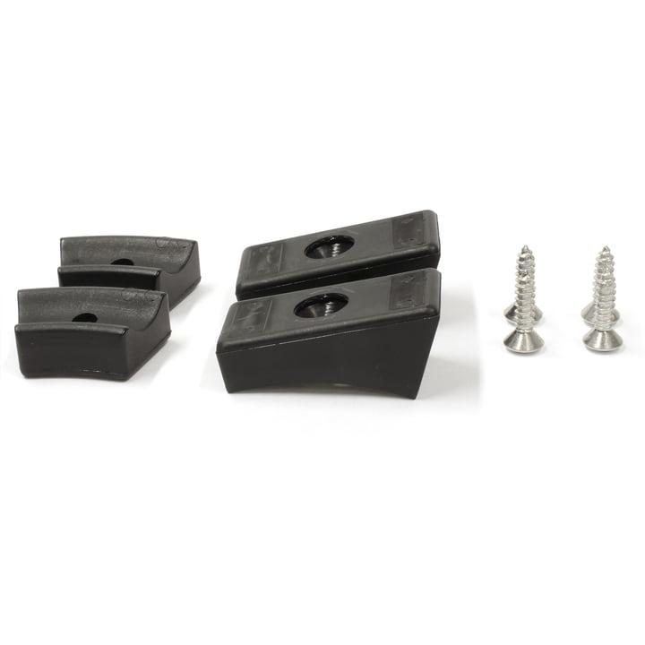 Thonet - Gleiter für Stahlrohr-Freischwinger, Kunststoffgleiter / schwarz