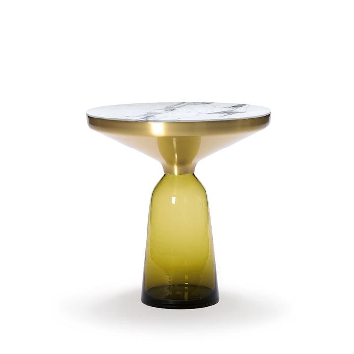ClassiCon - Bell Beistelltisch, Messing / citrin-gelb / Marmor