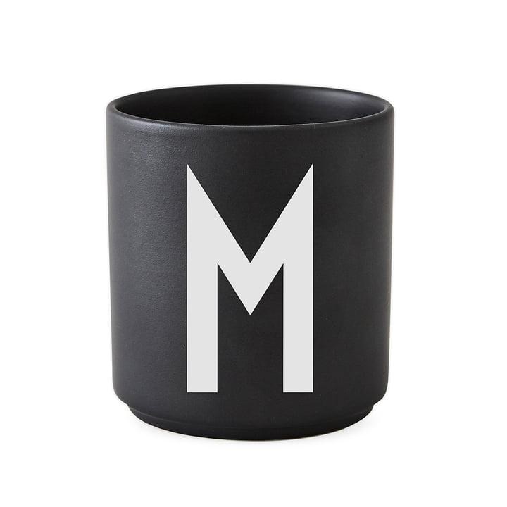 AJ Porzellan Becher M von Design Letters in Schwarz