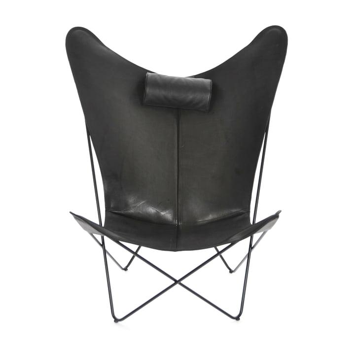 KS Sessel von Ox Denmarq aus Stahl Schwarz / Leder Schwarz
