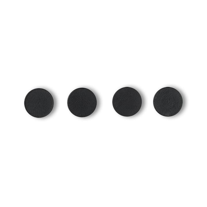 Remind Magnete von by Lassen in Schwarz (4er-Set)