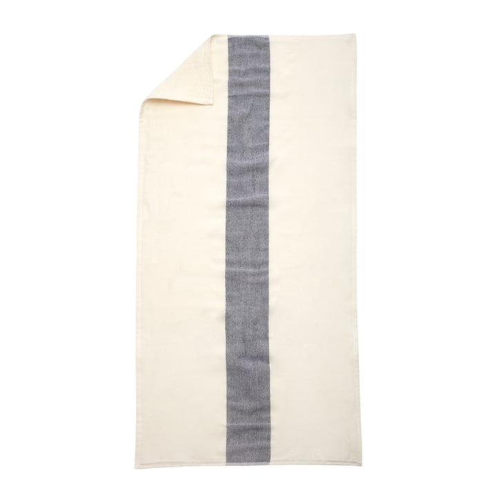 Skagerak - Stripes Towel Badetuch, 70 x 140 cm, whisper white / dark blue