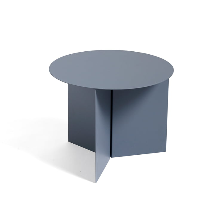 Slit Table Round von Hay in Petrolgrau