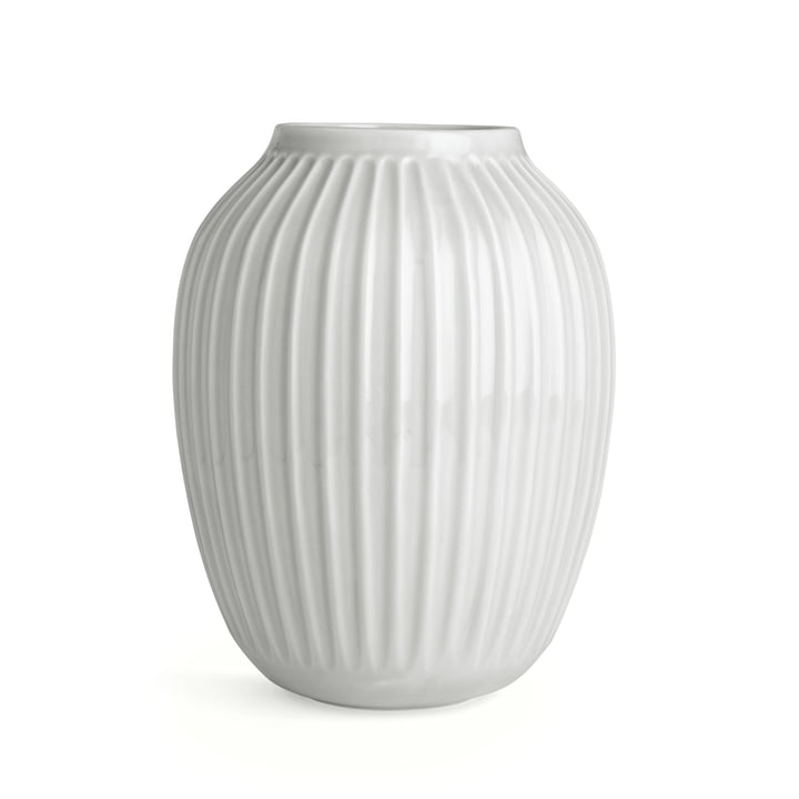 Hammershøi Vase H 25 cm von Kähler Design in Weiß