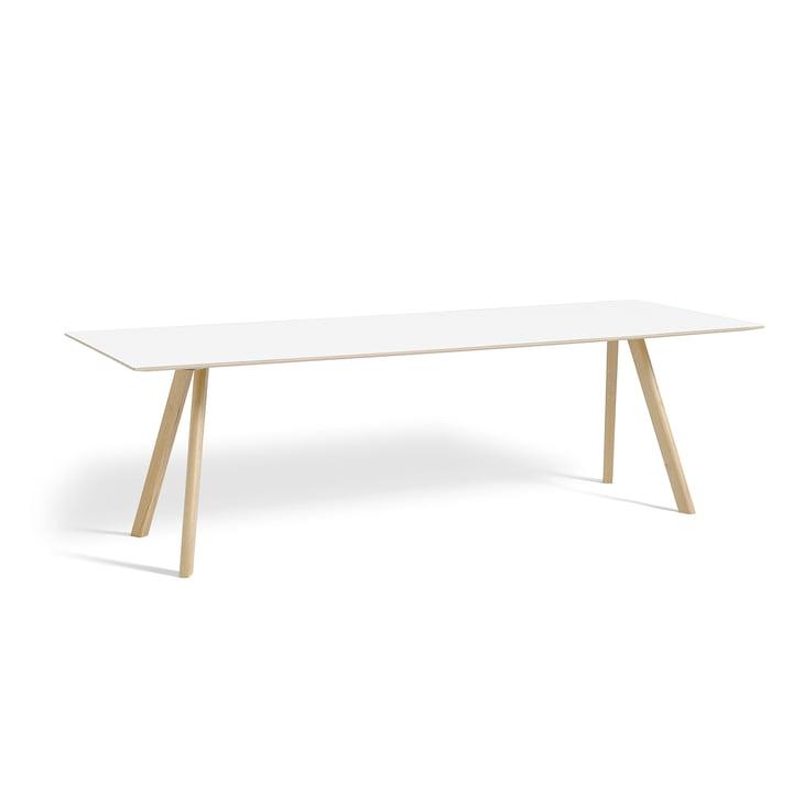 Copenhague CPH30 Esstisch 250 x 90 cm von Hay in Eiche matt lackiert / Tischplatte Laminat Weiß