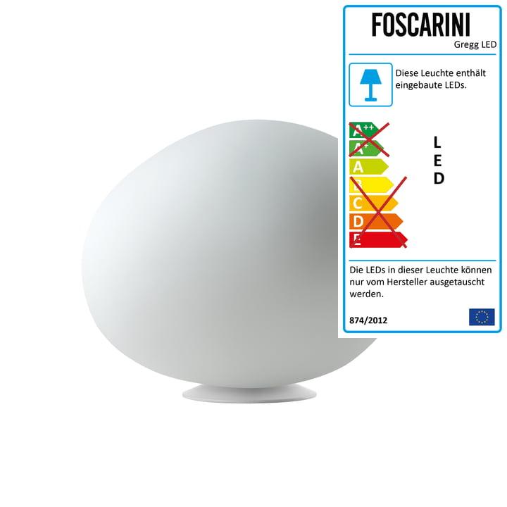 Die Foscarini - Gregg Tischleuchte LED, midi / weiß