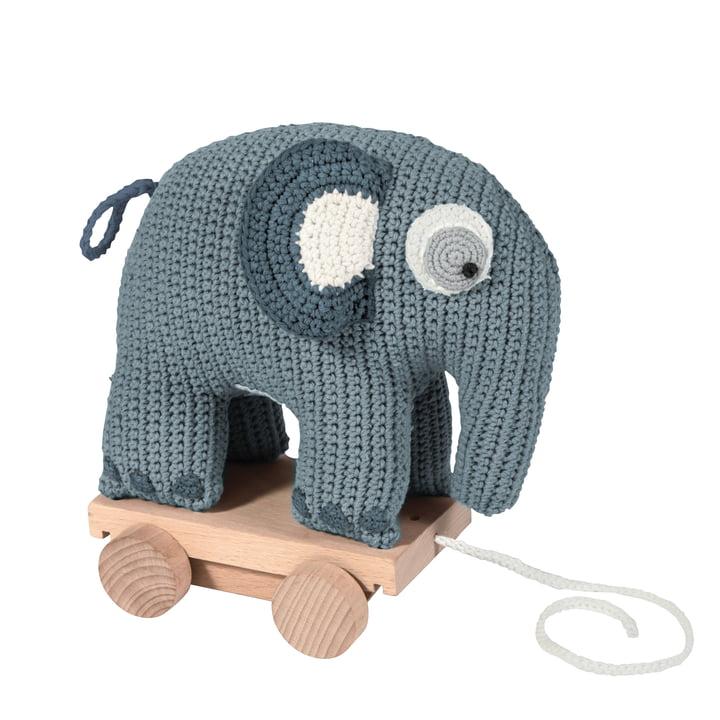 Das Sebra - Häkel-Nachziehtier, Elefant in blau