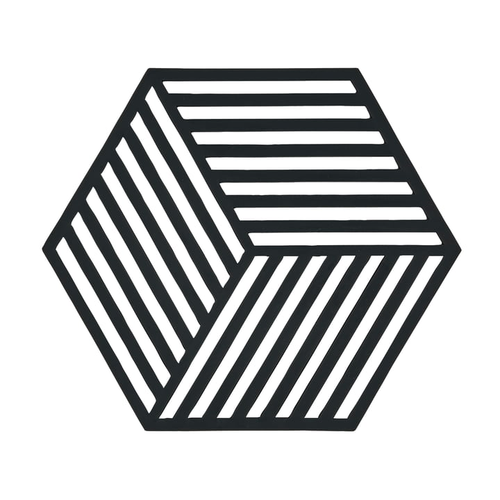 Der Zone Denmark - Hexagon Untersetzer in schwarz