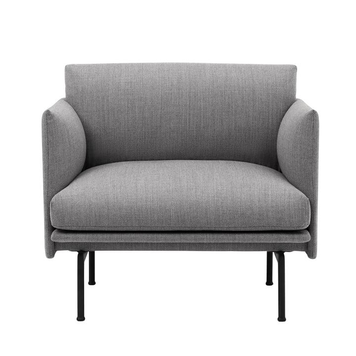 Outline Studio Sessel von Muuto in Fiord 151/ Schwarz