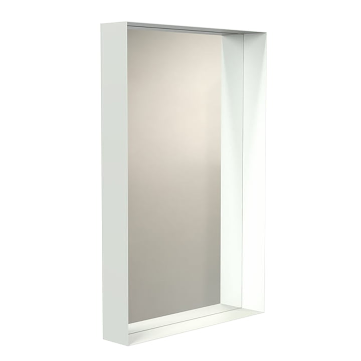Der Frost - Unu Wandspiegel mit Rahmen in weiß