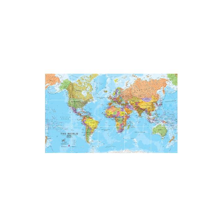 Die Welt (politisch) 100 x 60 cm von IXXI