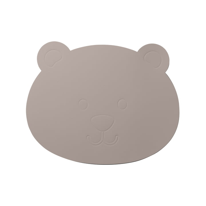 Der LindDNA - Kinder-Tischset Bär in Softbuck cool grey