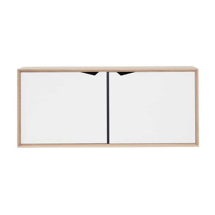 Das Andersen Furniture - S2 Hängemodul mit 2 Türen, Eiche geseift / Laminat weiß