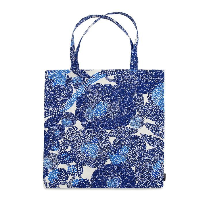 Die Marimekko - Mynsteri Einkaufstasche in blau / weiß