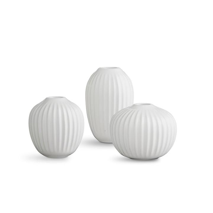 Kähler Design - Hammershøi Vase Miniatur, weiß (3er-Set)