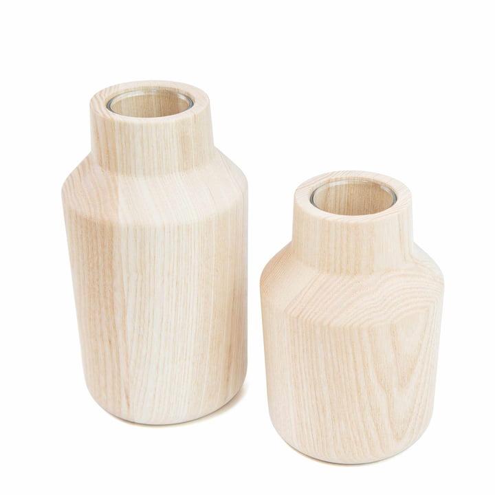 Die kommod - Klava Vase, esche (2er-Set)