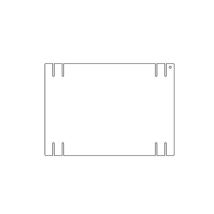 Kaether & Weise - Plattenbau, weiß - Seitenwand 33cm, Fachhöhe: 25cm