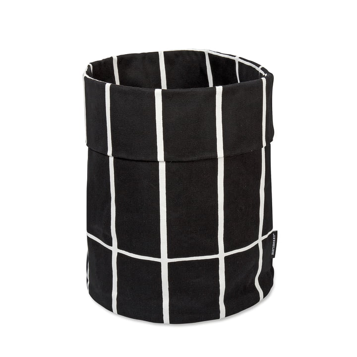 Marimekko - Tiiliskivi Aufbewahrungskorb, schwarz / weiß