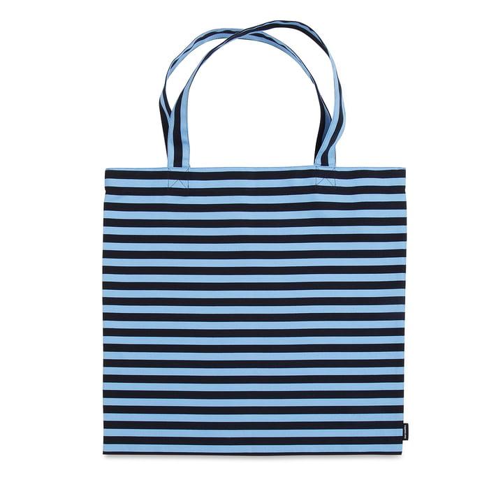 Tasaraita Einkaufstasche von Marimekko in Dunkelblau / Hellblau