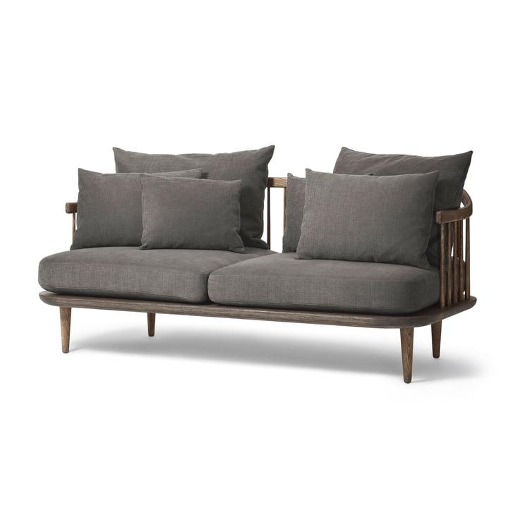 Das &Tradition - FLY 2-Sitzer Sofa SC2, Gestell Eiche geräuchert / Bezug Hot Madison 093