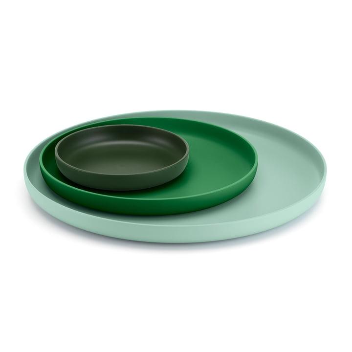 Vitra - Trays, grün (3er-Set)