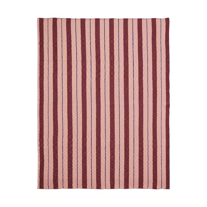 Pinstripe Decke von ferm Living in Rosa
