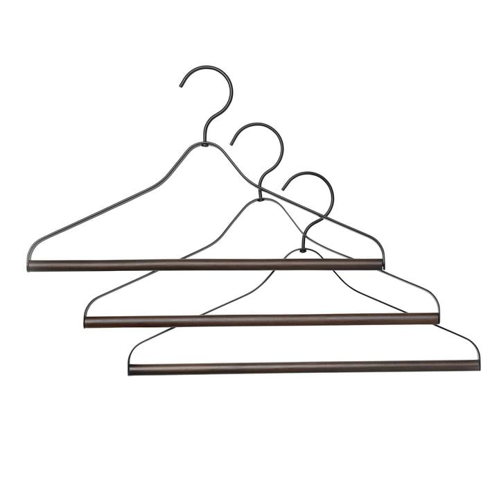Kleiderbügel (3er-Set) von ferm Living in Schwarz